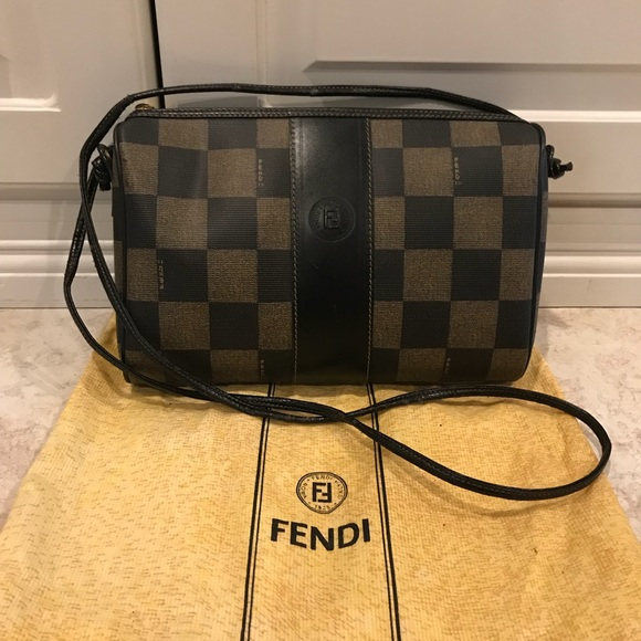 Fendi Handbags - Fendi vintage checkerboard monogram crossbody 50d31bddb8963